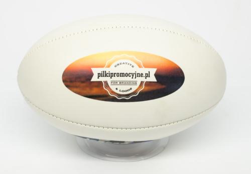 Piłka rugby z nadrukiem